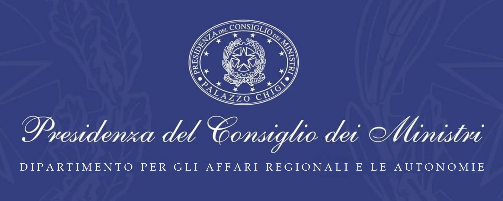 P.C.M. Dipartimento per gli affari regionali e le autonomie