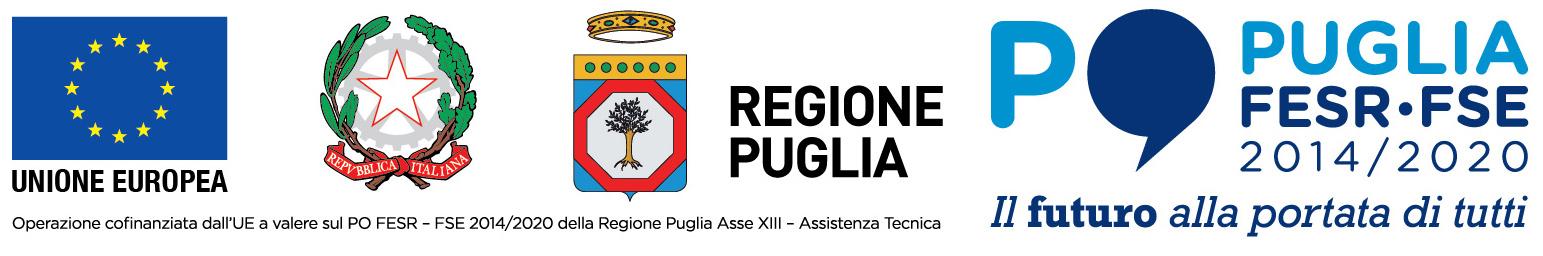 Unione Europea - Repubblica Italiana - Regione Puglia - Puglia FESR-FSE 2014-2020